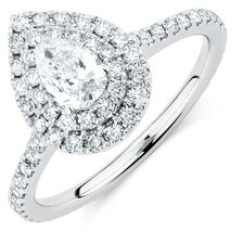 Sir Michael Hill Designer GrandArpeggio Engagement Ring with 1 1/5 Carat TW of Diamonds in 14kt White Gold