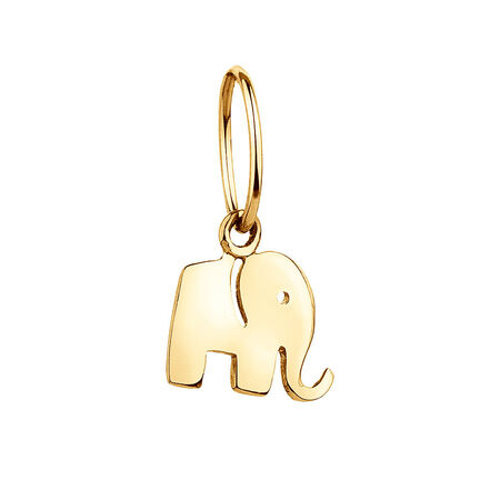 Elephant Mini Pendant with 10kt Yellow Gold