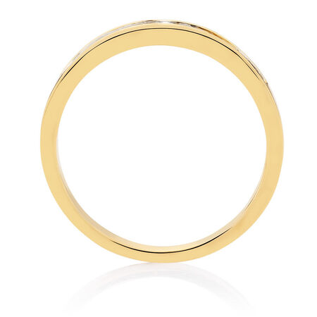 Wedding Band with 1/3 Carat TW of Diamonds in 18kt Yellow Gold