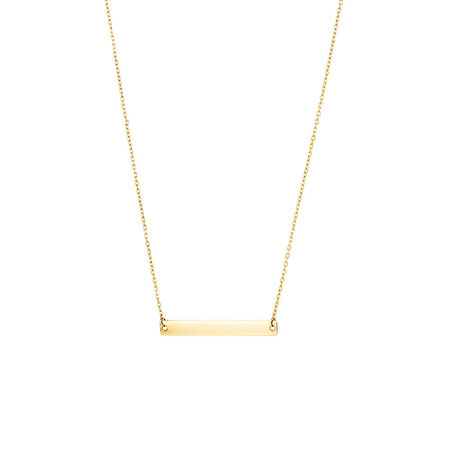 "45cm (18"") Bar Necklace in 10kt Yellow Gold"