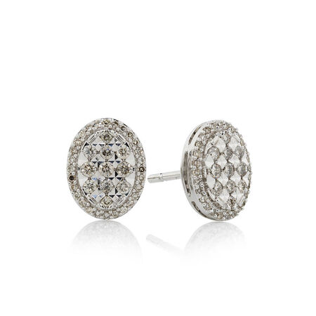 Online Exclusive - Earrings with 0.39 Carat TW of Diamonds in 10kt White Gold