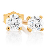 Classic Stud Earrings with 1/5 Carat TW of Diamonds in 10kt Yellow Gold