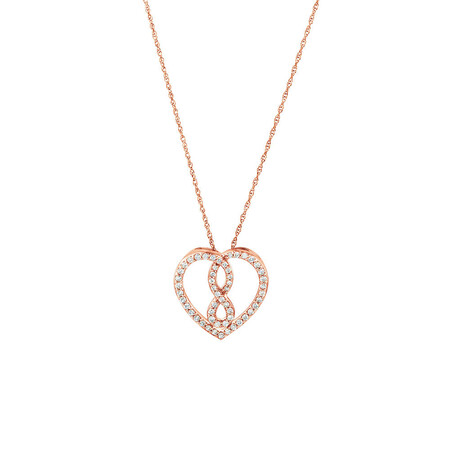 Small Infinitas Pendant with 1/4 Carat TW of Diamonds in 10kt Rose Gold