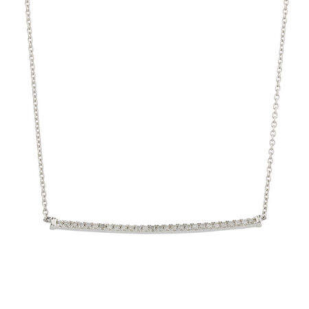 Online Exclusive - Pendant with 0.18 Carat TW of Diamonds in 10kt White Gold