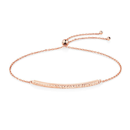 Adjustable Bar Bracelet in 10kt Rose Gold