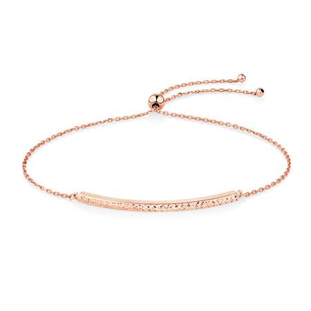 Adjustable Bar Bracelet in 10kt Rose Gold