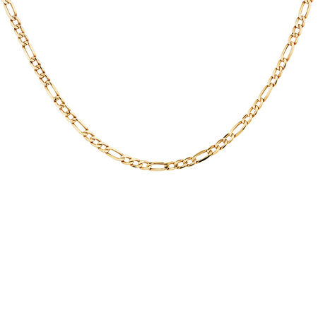 """45cm (18"""") Figaro Chain in 10kt Yellow Gold"""