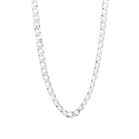 Curb Chain in 10kt White Gold