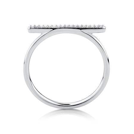 Ring with 1/20 Carat TW of Diamonds in 10kt White Gold