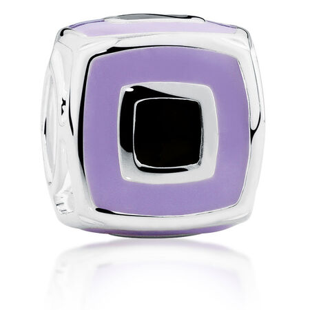 Online Exclusive - Sterling Silver Square Patterned Charm