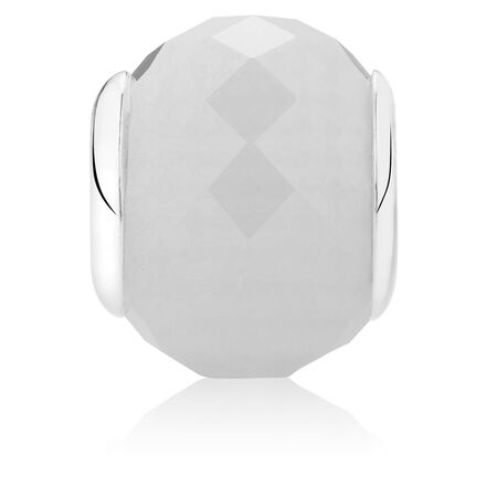 White Faceted Crystal Charm