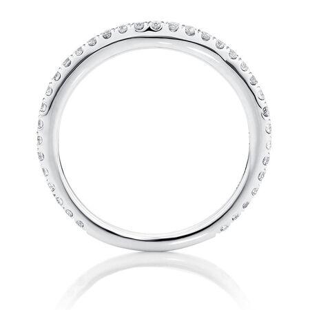 Sir Michael Hill Designer GrandArpeggio Wedding Band with 0.33 Carat TW of Diamonds in 14kt White Gold