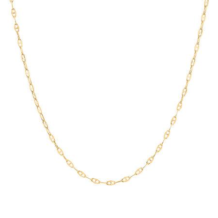 """40cm (16"""") Fancy Chain in 10kt Yellow Gold"""