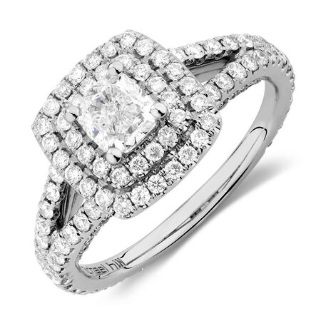 Sir Michael Hill Designer GrandArpeggio Engagement Ring with 1 3/4 Carat TW of Diamonds in 14kt White Gold