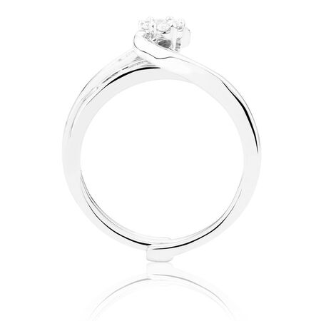Bridal Set with 1/3 Carat TW of Diamonds in 10kt White Gold