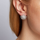Stud Earrings with 1 1/2 Carat TW of Diamonds in 14kt White Gold