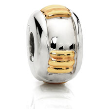 10kt Yellow Gold & Sterling Silver Stopper