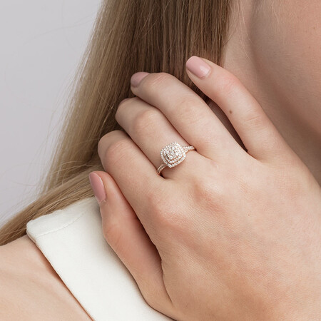 Engagement Ring with 1/2 Carat TW of Diamonds in 10kt Rose Gold