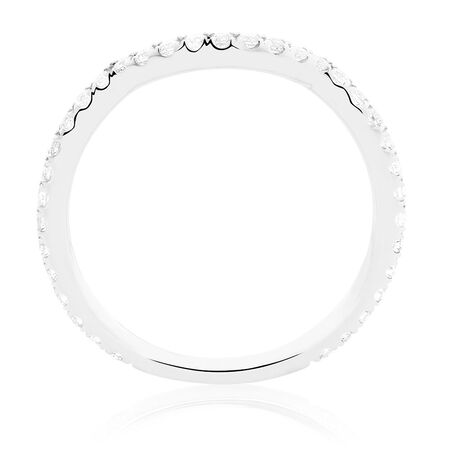 Michael Hill Designer Adagio Wedding Band with 3/8 Carat TW of Diamonds in 14kt White Gold