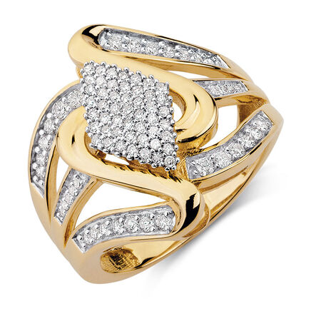 Ring with 1/2 Carat TW of Diamonds in 10kt Yellow Gold