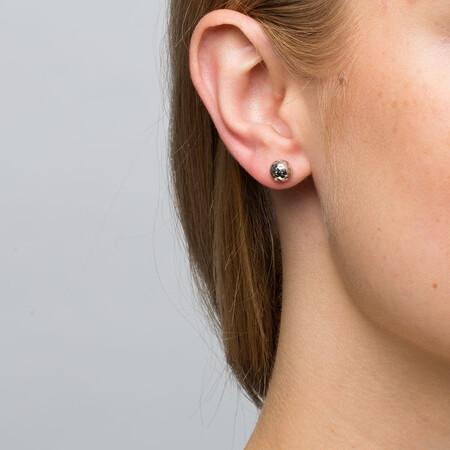 7mm Stud Earrings in 10kt White Gold