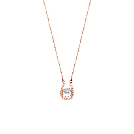 Everlight Pendant with 1/8 Carat TW of Diamonds in 10kt Rose Gold