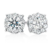 Cer Stud Earrings With 1 2 Carat Tw Of Diamonds In 10kt White Gold