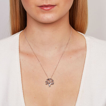 Online Exclusive - City Lights Pendant with 1/6 Carat TW of Enhanced Black Diamonds in Sterling Silver