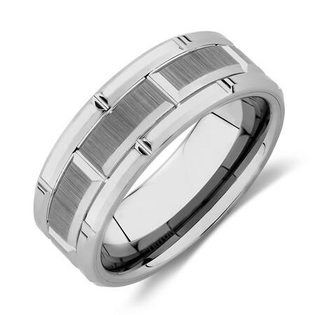 Men's Ring in Gray TungstenMen's Ring in Gray Tungsten