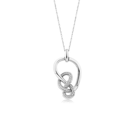 Medium Knots Pendant with 1/5 Carat TW of Diamonds in Sterling Silver
