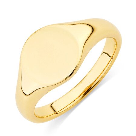 Circle Signet Ring in 10kt Yellow Gold