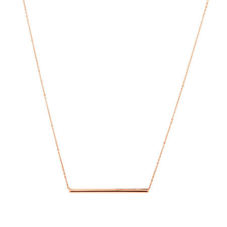 "45cm (18"") Bar Necklace in 10kt Rose Gold"