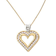 Pendant with 1 Carat TW of Diamonds in 10kt Yellow & White Gold