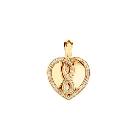 Infinitas Enhancer Pendant with 1/3 Carat TW of Diamonds in 10kt Yellow Gold