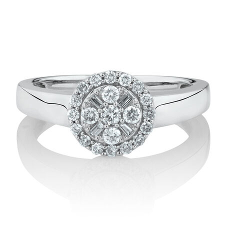 Online Exclusive - Engagement Ring with 0.38 Carat TW of Diamonds in 10kt White Gold