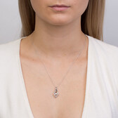 Everlight Pendant with a 1/15 Carat Diamond in Sterling Silver