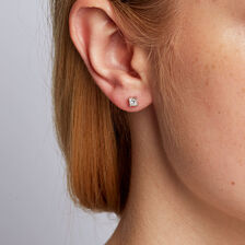 Stud Earrings with 1/2 Carat TW of Diamonds in 14kt White Gold