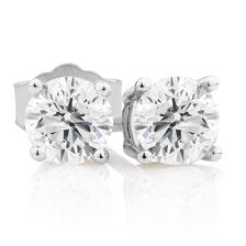 Stud Earrings with 3/4 Carat TW of Diamonds in 10kt White Gold