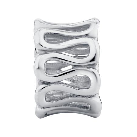 Sterling Silver Swirl Charm