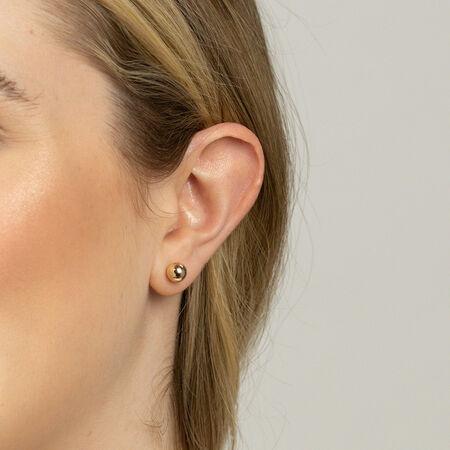 7mm Ball Stud Earrings in 10kt Yellow Gold