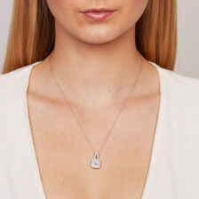 Michael Hill Designer Arpeggio Pendant with 1 Carat TW of Diamonds in 14kt White & Rose Gold