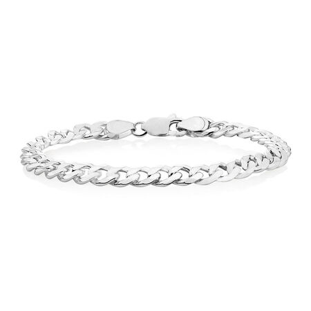 "21cm (8.5"") Curb Bracelet in Sterling Silver"