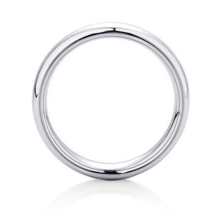 6mm Men's Ring in Gray Tungsten