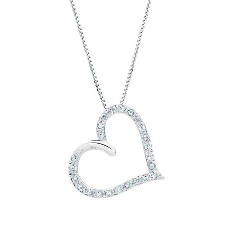 Pendant with 1/10 Carat TW of Diamonds in Sterling Silver