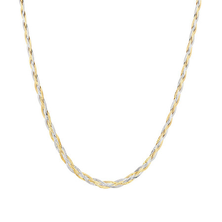 "60cm (24"") Fancy Chain in 10kt Yellow & White Gold"