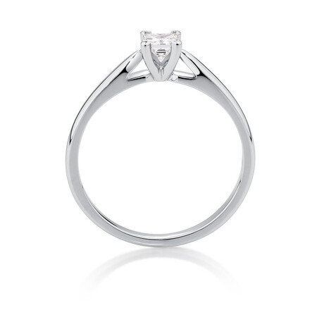 Evermore Solitaire Engagement Ring with a 1/4 Carat Diamond in 14kt White Gold