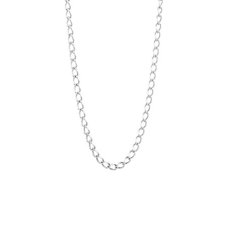 """Online Exclusive - 45cm (18"""") Curb Chain In Sterling Silver"""
