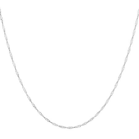 """45cm (18"""") Singapore Chain in 14kt White Gold"""