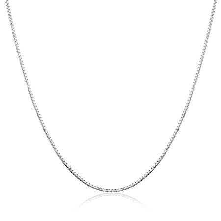 "45cm (18"") Box Chain in Sterling Silver"