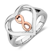 Infinitas Ring in 10kt Rose Gold & Sterling Silver